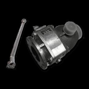 Шаровой кран для абразивов Prokosch 100 mm (4'') с ускорителем