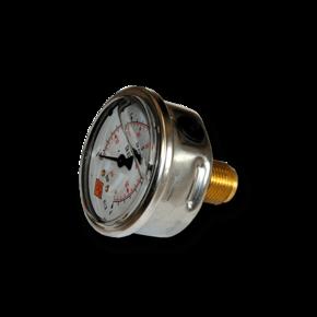 Манометр виброустойчивый NG 63, 0...4 bar (0-0.4 МПа) (резьба сзади)