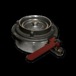 Заглушка для быстросъемной муфты 89 mm с краном